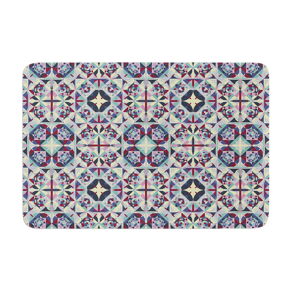 "Allison Soupcoff ""Curiousity"" Purple Memory Foam Bath Mat - KESS InHouse"