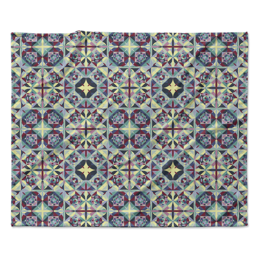 "Allison Soupcoff ""Curiousity"" Purple Fleece Throw Blanket"