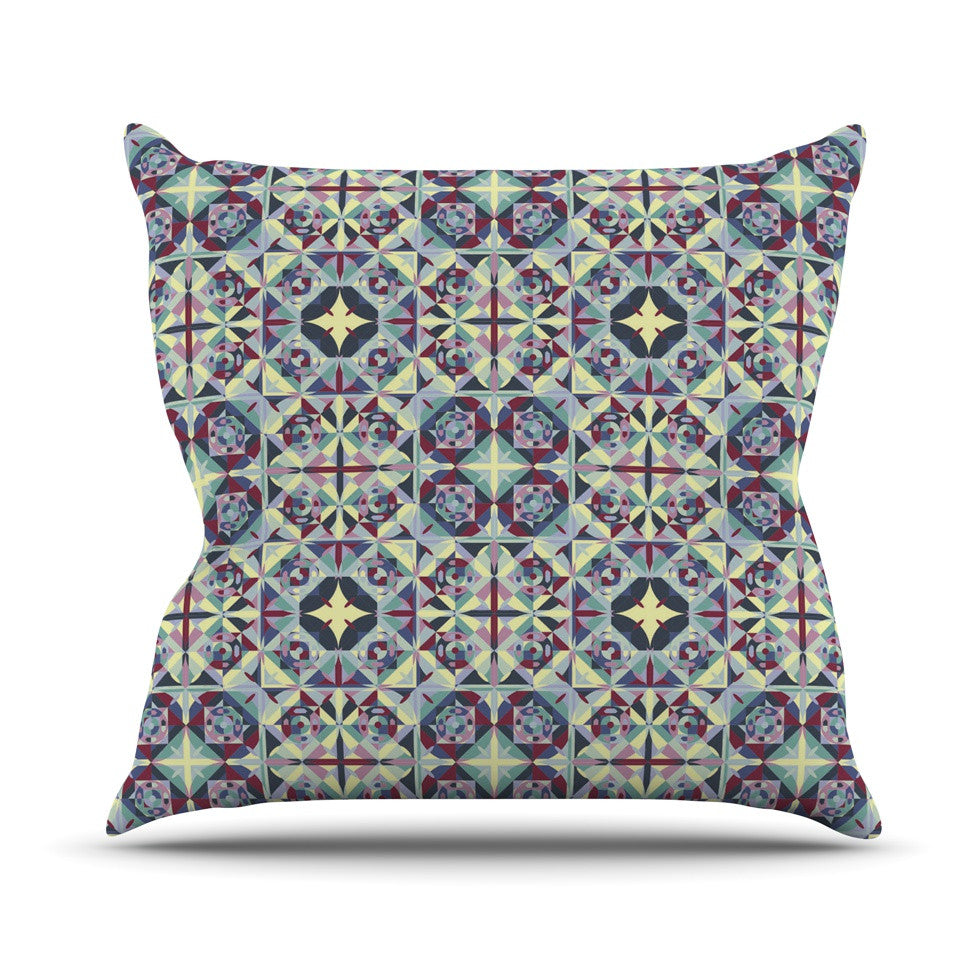 "Allison Soupcoff ""Curiousity"" Purple Throw Pillow - KESS InHouse  - 1"