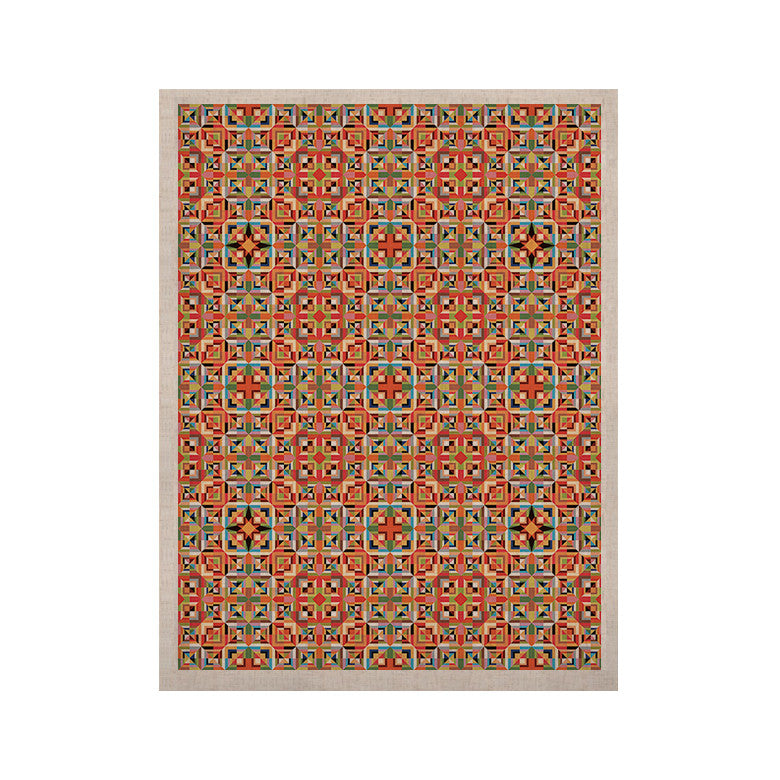 "Allison Soupcoff ""Henson"" Orange Green KESS Naturals Canvas (Frame not Included) - KESS InHouse  - 1"