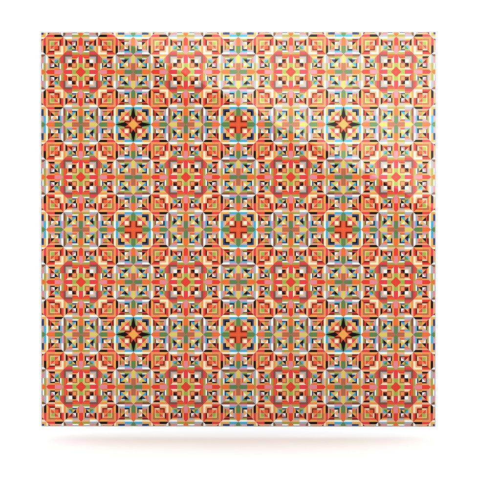 "Allison Soupcoff ""Henson"" Orange Green Luxe Square Panel - KESS InHouse  - 1"