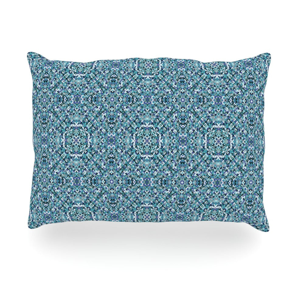 "Allison Soupcoff ""Ocean"" Blue Teal Oblong Pillow - KESS InHouse"