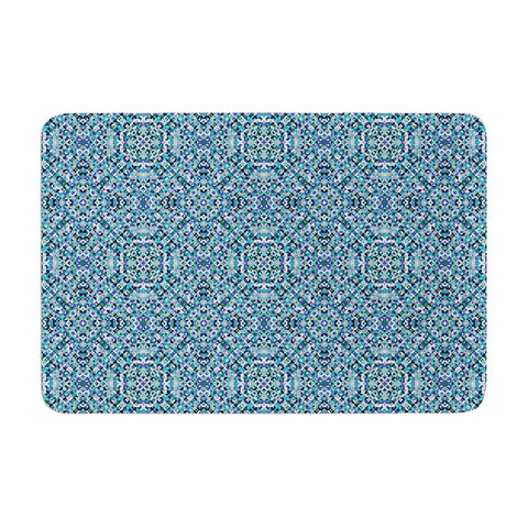 "Allison Soupcoff ""Ocean"" Blue Teal Memory Foam Bath Mat - Outlet Item"