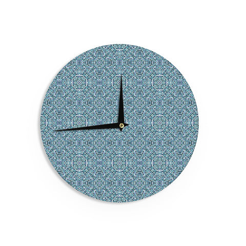 "Allison Soupcoff ""Ocean"" Blue Teal Wall Clock - Outlet Item"
