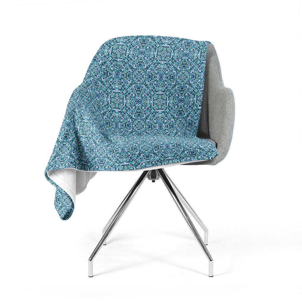 "Allison Soupcoff ""Ocean"" Blue Teal Fleece Throw Blanket"