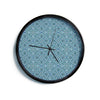 "Allison Soupcoff ""Ocean"" Blue Teal Modern Wall Clock"
