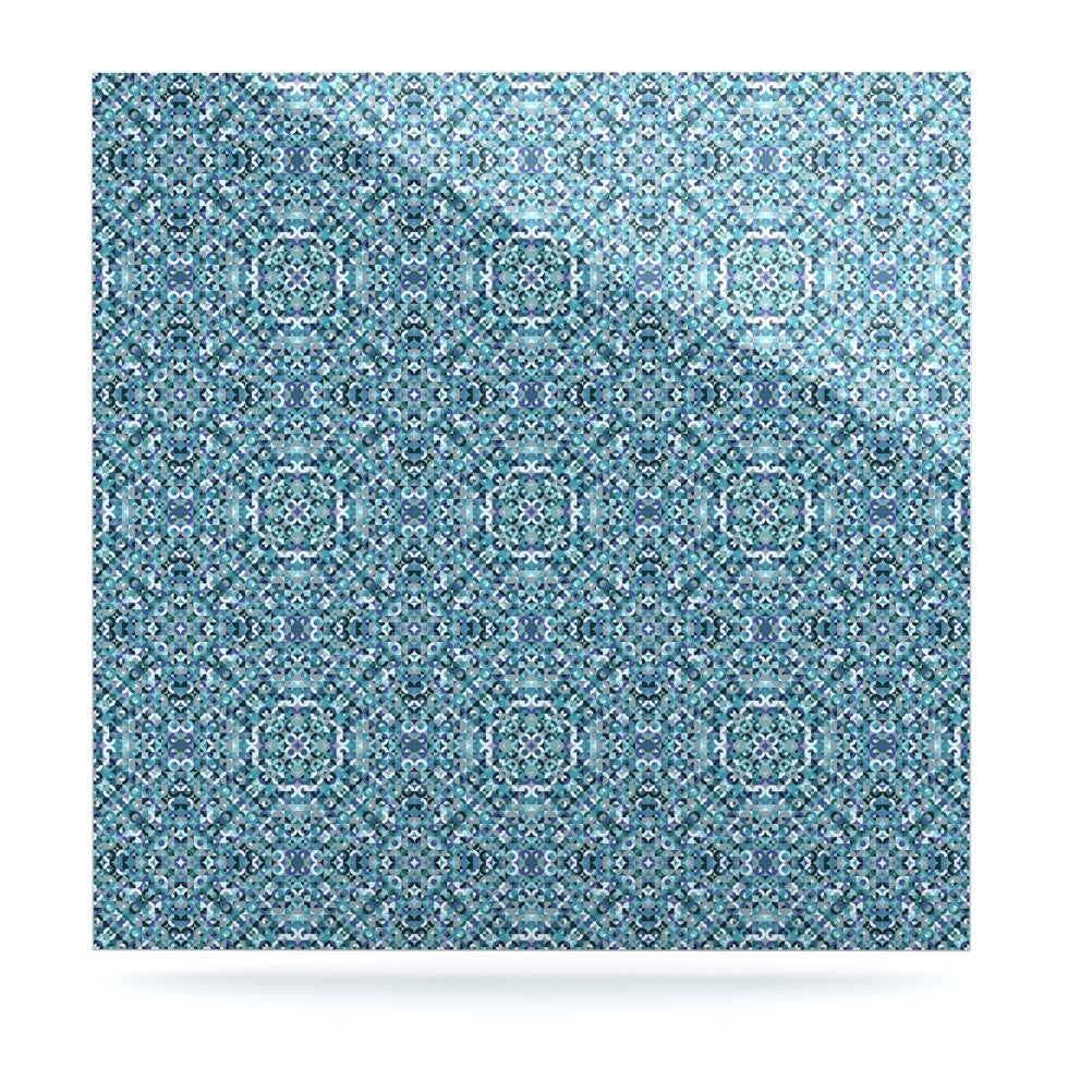"Allison Soupcoff ""Ocean"" Blue Teal Luxe Square Panel - KESS InHouse  - 1"