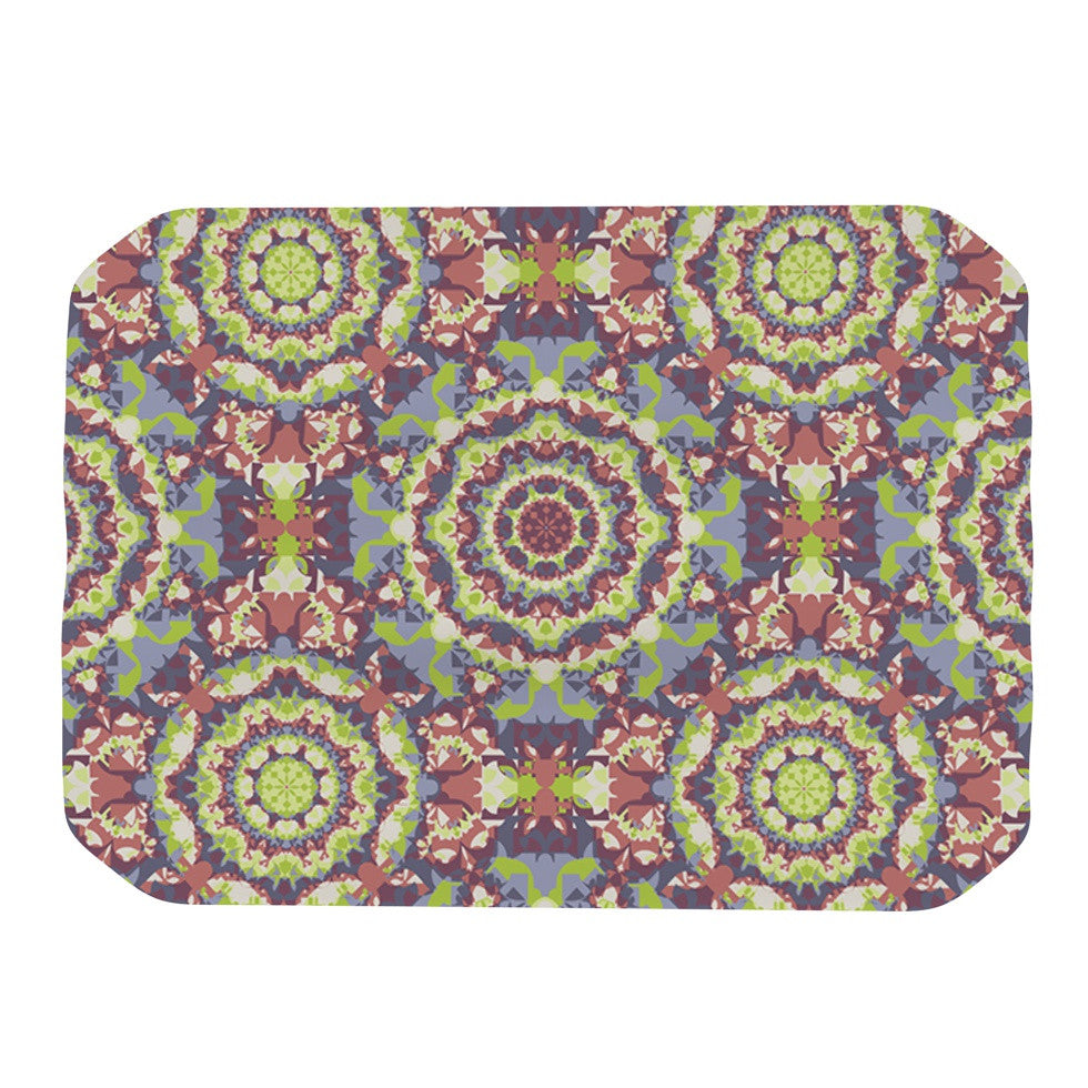 "Allison Soupcoff ""Plum Lace"" Green Purple Place Mat - KESS InHouse"