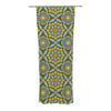 "Alison Soupcoff ""Sunflower"" Blue Yellow Decorative Sheer Curtain - KESS InHouse  - 1"