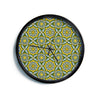 "Allison Soupcoff ""Sunflower"" Blue Yellow Modern Wall Clock"