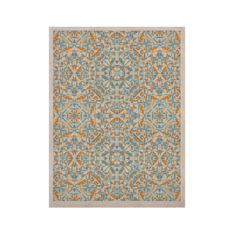 "Allison Soupcoff ""Coastal"" Orange Blue KESS Naturals Canvas (Frame not Included) - KESS InHouse  - 1"