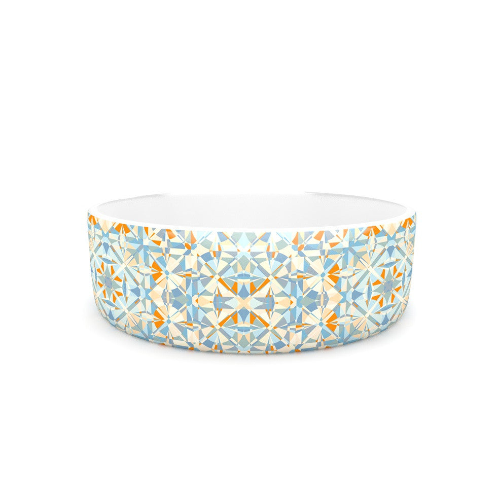 "Allison Soupcoff ""Coastal"" Orange Blue Pet Bowl - KESS InHouse"
