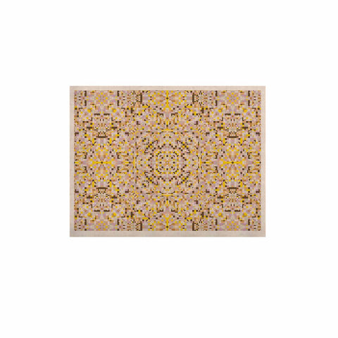 "Allison Soupcoff ""Hint"" Yellow Beige Digital KESS Naturals Canvas (Frame not Included)"