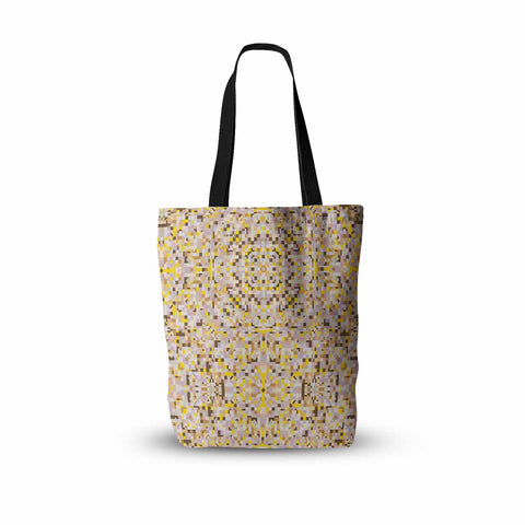 "Allison Soupcoff ""Hint"" Yellow Beige Digital Everything Tote Bag"