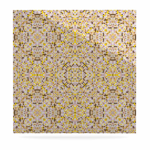 "Allison Soupcoff ""Hint"" Yellow Beige Digital Luxe Square Panel"