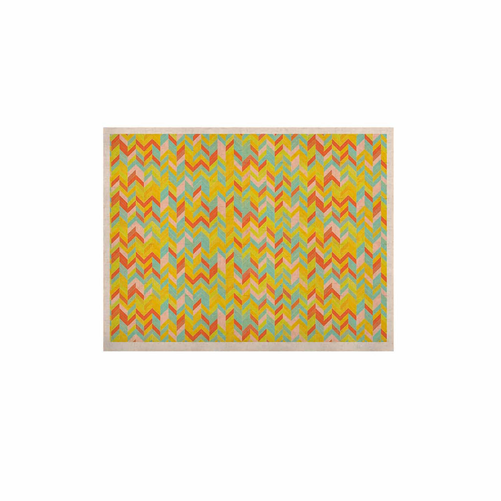"Allison Soupcoff ""Chevron Pop "" Yellow Pattern KESS Naturals Canvas (Frame not Included) - KESS InHouse  - 1"