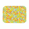 "Allison Soupcoff ""Chevron Pop "" Yellow Pattern Place Mat - KESS InHouse"