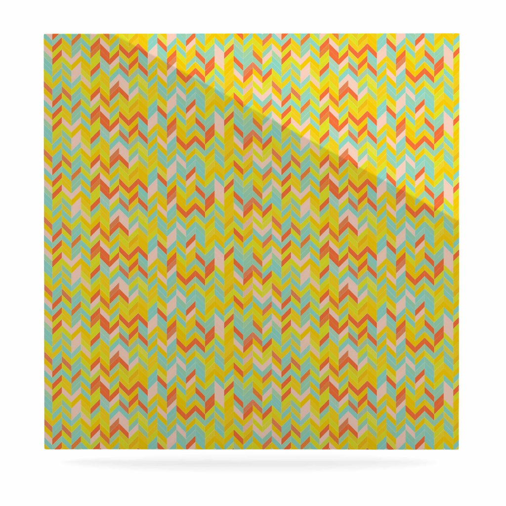 "Allison Soupcoff ""Chevron Pop "" Yellow Pattern Luxe Square Panel - KESS InHouse  - 1"