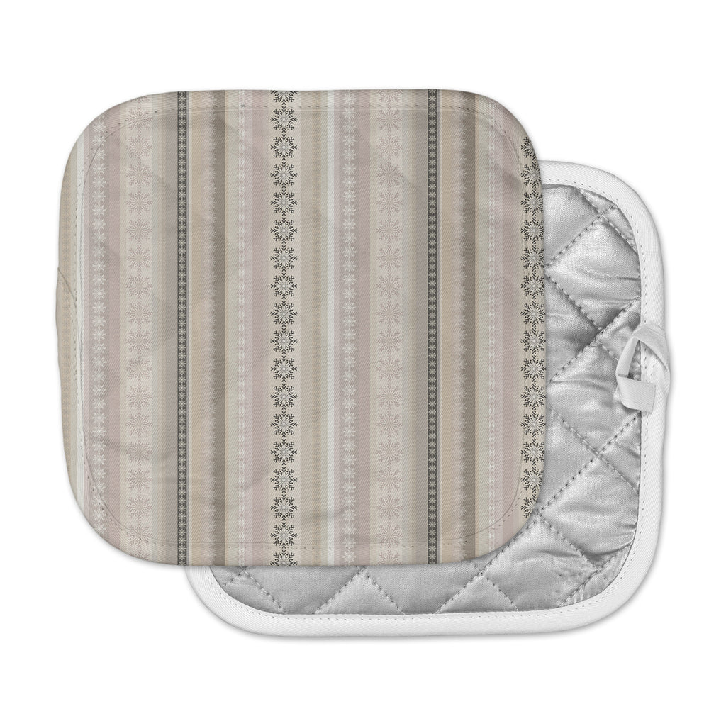 "Allison Soupcoff ""Pure"" Beige Tan Digital Pot Holder"