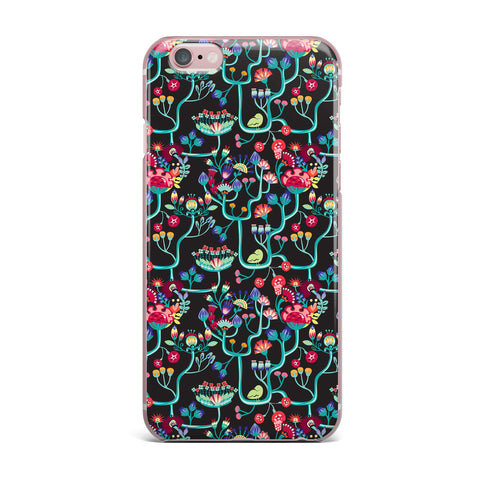 "Agnes Schugardt ""Antique Folk"" Rainbow Black iPhone Case - KESS InHouse"