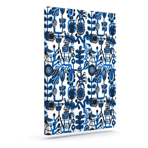 "Agnes Schugardt ""Dream"" Blue White Outdoor Canvas Wall Art - KESS InHouse  - 1"