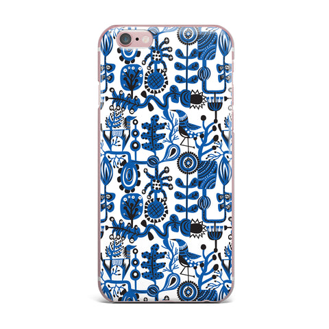 "Agnes Schugardt ""Dream"" Blue White iPhone Case - KESS InHouse"