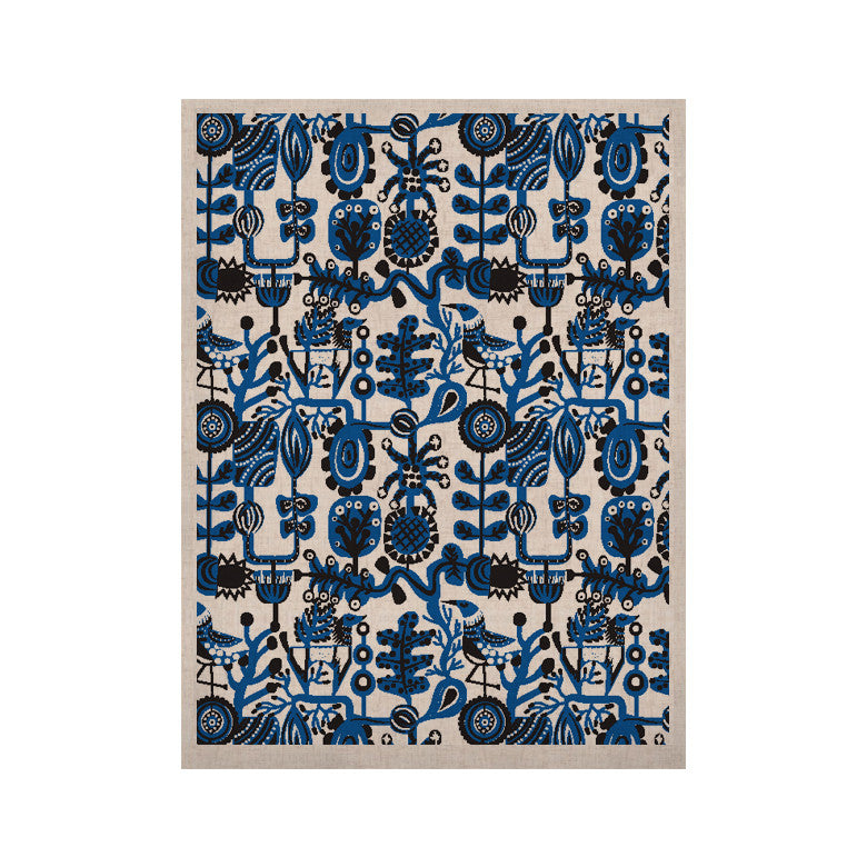 "Agnes Schugardt ""Dream"" Blue White KESS Naturals Canvas (Frame not Included) - KESS InHouse  - 1"