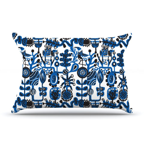 "Agnes Schugardt ""Dream"" Blue White Pillow Sham - KESS InHouse  - 1"