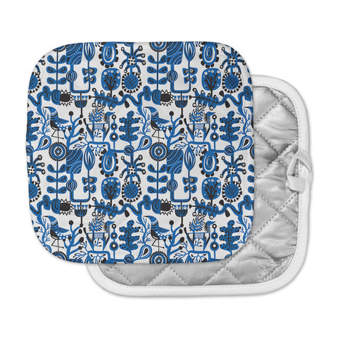 "Agnes Schugardt ""Dream"" Blue White Pot Holder"