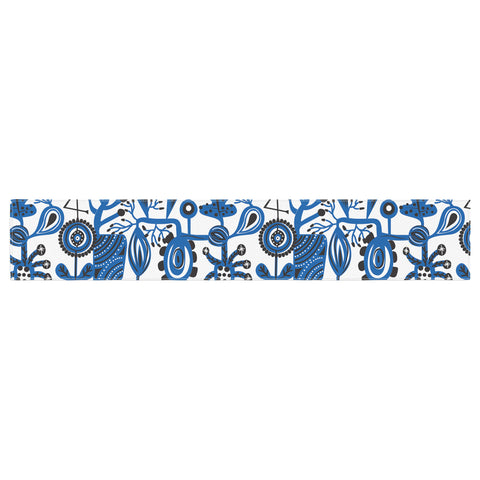 "Agnes Schugardt ""Dream"" Blue White Table Runner - KESS InHouse  - 1"