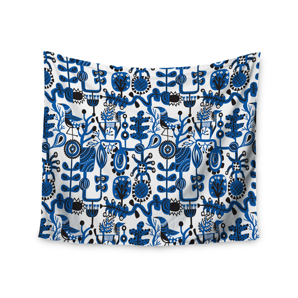 "Agnes Schugardt ""Dream"" Blue White Wall Tapestry - KESS InHouse  - 1"