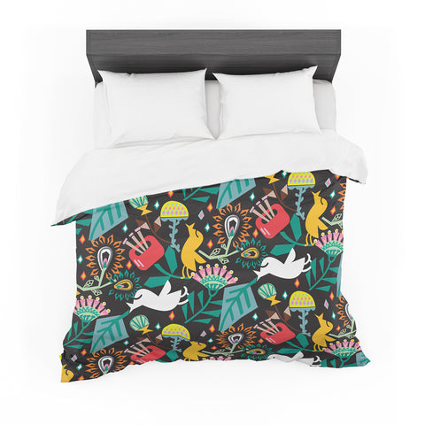 "Agnes Schugardt ""Folk Fusion"" Rainbow Abstract Featherweight Duvet Cover"
