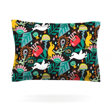 "Agnes Schugardt ""Folk Fusion"" Rainbow Abstract Pillow Sham - Outlet Item"