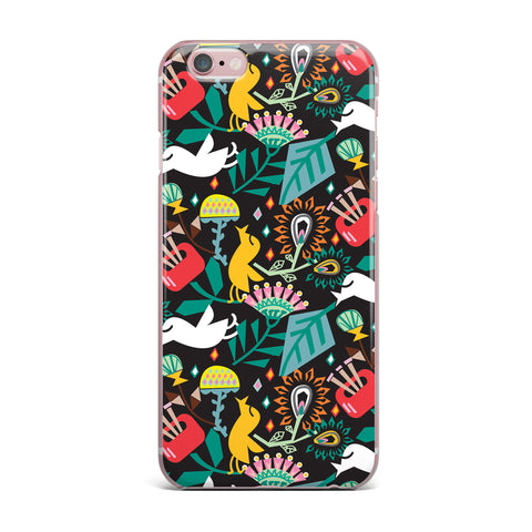 "Agnes Schugardt ""Folk Fusion"" Rainbow Abstract iPhone Case - KESS InHouse"
