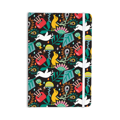"Agnes Schugardt ""Folk Fusion"" Rainbow Abstract Everything Notebook - KESS InHouse  - 1"