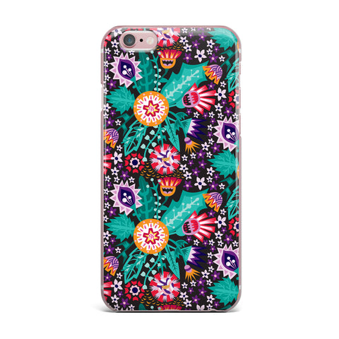 "Agnes Schugardt ""Folk Meadow"" Purple Teal iPhone Case - KESS InHouse"