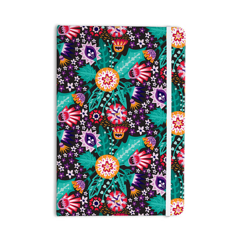 "Agnes Schugardt ""Folk Meadow"" Purple Teal Everything Notebook - KESS InHouse  - 1"