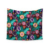 "Agnes Schugardt ""Folk Meadow"" Purple Teal Wall Tapestry - KESS InHouse  - 1"
