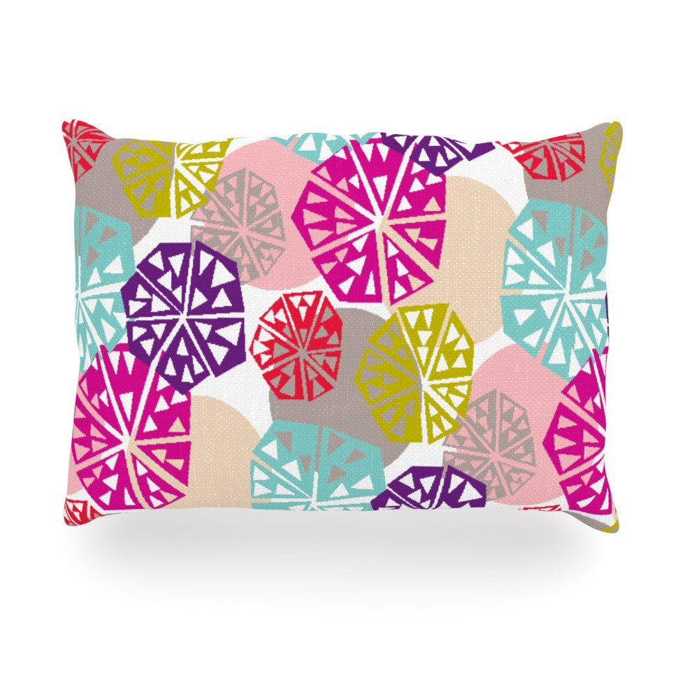 "Agnes Schugardt ""Pie In The Sky"" Rainbow Abstract Oblong Pillow - KESS InHouse"
