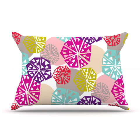 "Agnes Schugardt ""Pie In The Sky"" Rainbow Abstract Pillow Sham - KESS InHouse  - 1"