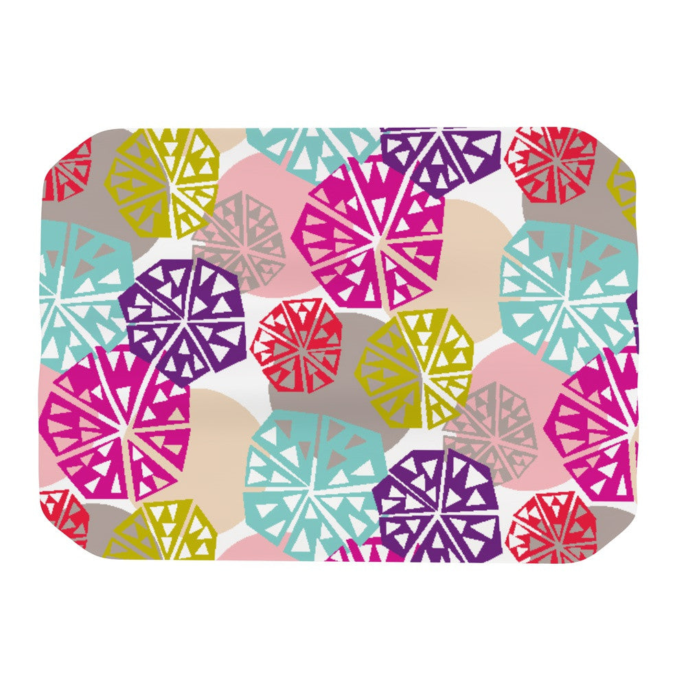 "Agnes Schugardt ""Pie In The Sky"" Rainbow Abstract Place Mat - KESS InHouse"