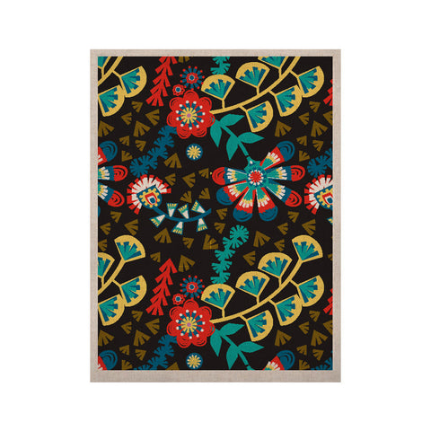 "Agnes Schugardt ""Wycinanka"" Black Abstract KESS Naturals Canvas (Frame not Included) - KESS InHouse  - 1"