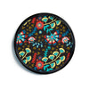 "Agnes Schugardt ""Wycinanka"" Black Abstract Modern Wall Clock"
