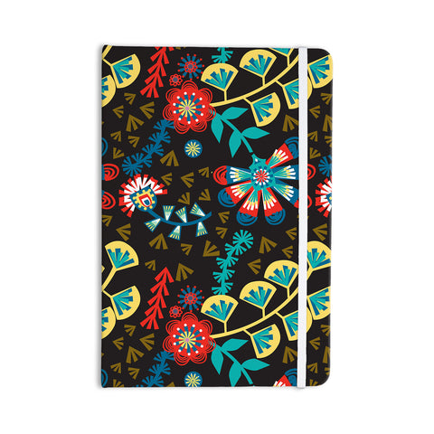"Agnes Schugardt ""Wycinanka"" Black Abstract Everything Notebook - KESS InHouse  - 1"
