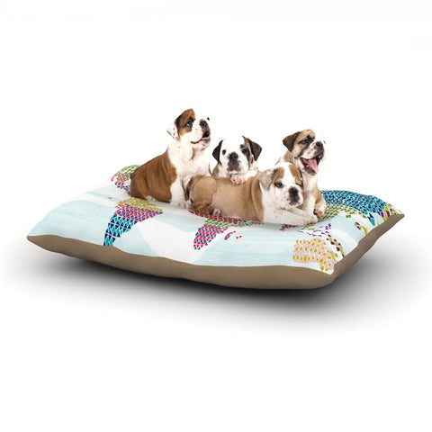 "Agnes Schugardt ""Geo Map"" Abstract Dog Bed - KESS InHouse"