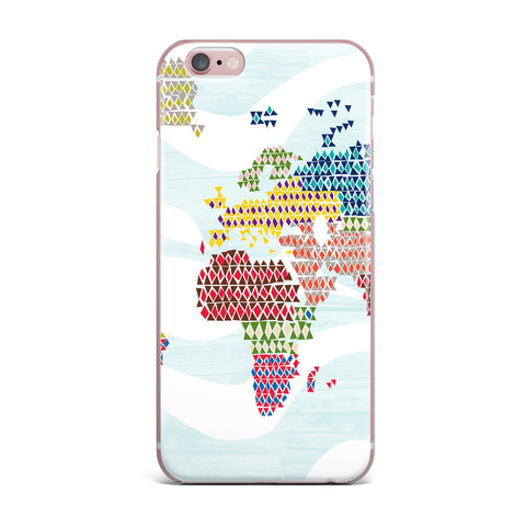 "Agnes Schugardt ""Geo Map"" Abstract iPhone Case - KESS InHouse"