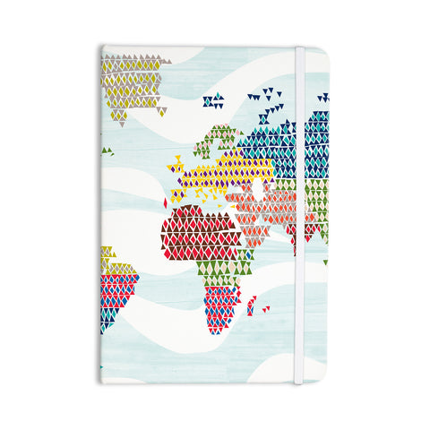 "Agnes Schugardt ""Geo Map"" Abstract Everything Notebook - KESS InHouse"