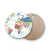 "Agnes Schugardt ""Geo Map"" Abstract Round Wooden Cutting Board"