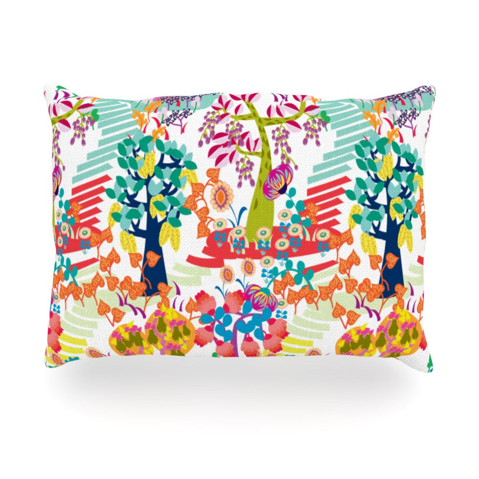 "Agnes Schugardt ""Fruit of the Earth"" Multicolor Nature Oblong Pillow - KESS InHouse"
