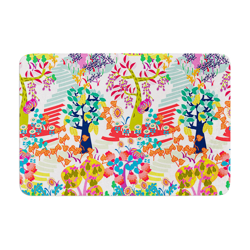 "Agnes Schugardt ""Fruit of the Earth"" Multicolor Nature Memory Foam Bath Mat - KESS InHouse"